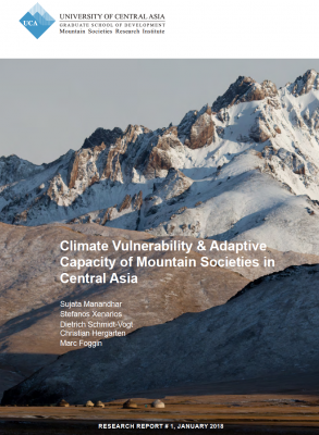 "New Report on ""Climate Vulnerability & Adaptive Capacity of Mountain Societies in Central Asia"""
