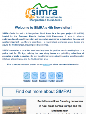 SIMRA - Newsletter #4 - March 2018