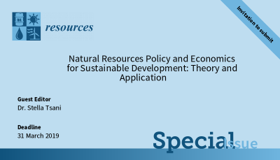 Dr. Stella Tsani will be guest editing a special issue in Resources