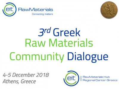 The 3rd Greek Raw Materials Community Dialogue will take place in Athens on December 4-5 2018