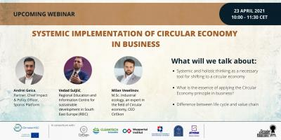 "Webinar ""Systemic implementation of Circular Economy in business"""