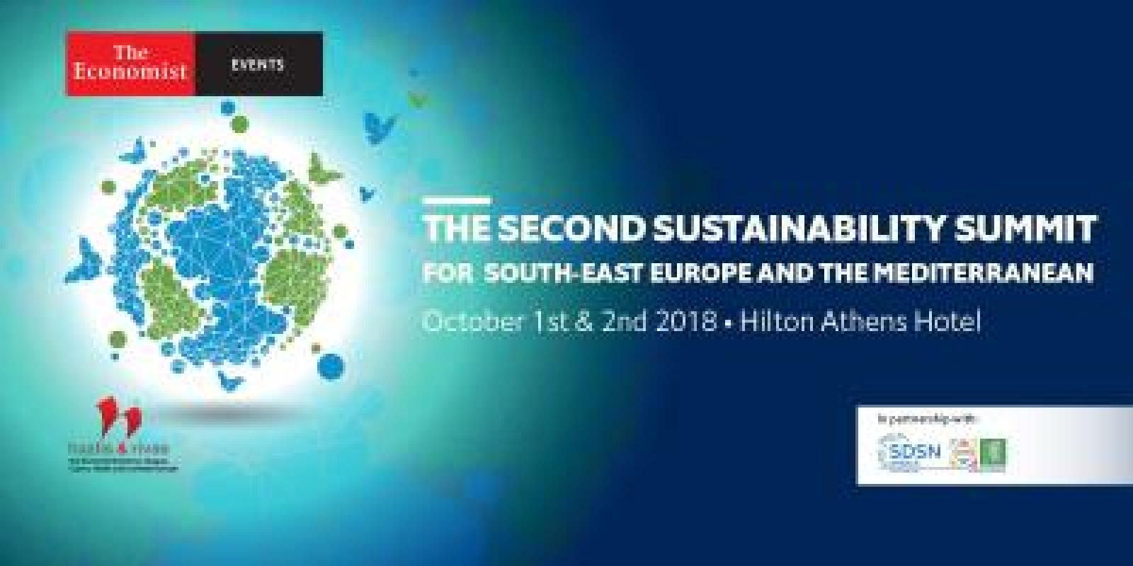The 2nd Sustainability Summit for southeast Europe and the Mediterranean will take place in Athens at the Hilton Athens Hotel on October 1st and 2nd 2018