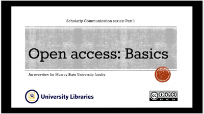 Open Access: Basics