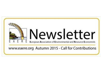EAERE Automn 2015 Newsletter