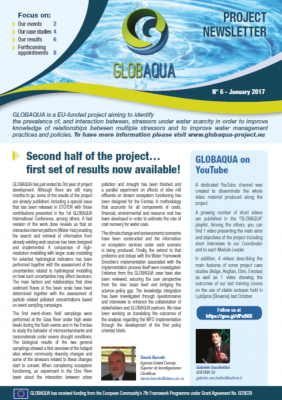 The GLOBAQUA Project Newsletter - January 2017