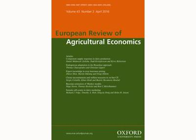 New article by ICRE8 researcher Achilleas Vassilopoulos published in European Review of Agricultural Economics