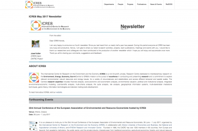 ICRE8s 4th Newsletter has been published!