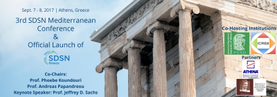 3rd International SDSN Mediterranean Conference | Official Launch of SDSN Greece, September 7 & 8, Athens, Greece
